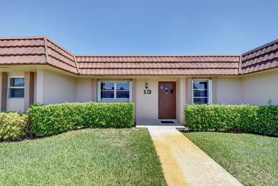West Palm Beach Condo For Sale: 5725 Fernley Drive E #13