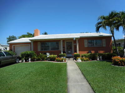 West Palm Beach Single Family Home For Sale: 345 Leigh Road