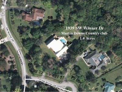 Palm City Single Family Home For Sale: 1939 SW Winners Drive