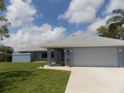 Port Saint Lucie Single Family Home For Sale: 502 NE Oleander Avenue