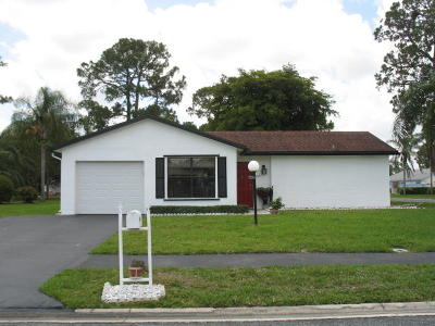 Greenacres Single Family Home Contingent: 6100 Rainbow Circle