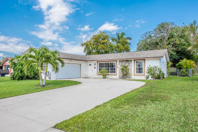 Royal Palm Beach Single Family Home Contingent: 213 Bilbao Street