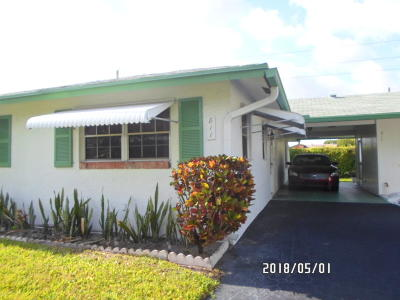 Delray Beach Single Family Home For Sale: 811 Meadowlark Lane