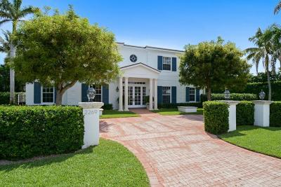 Palm Beach FL Single Family Home For Sale: $3,450,000