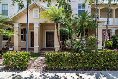 Jupiter Townhouse For Sale: 153 E Bay Cedar Circle