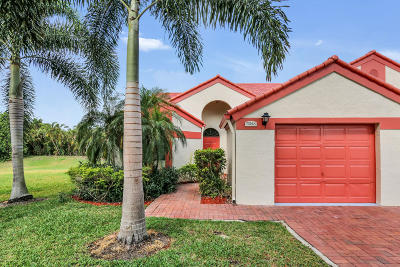 Delray Beach Single Family Home For Sale: 7924 Lexington Club Boulevard #A