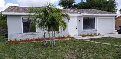 Royal Palm Beach Single Family Home Contingent: 10139 Yeoman Lane