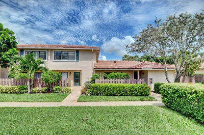 Boynton Beach Single Family Home For Sale: 28 Southport Lane #d