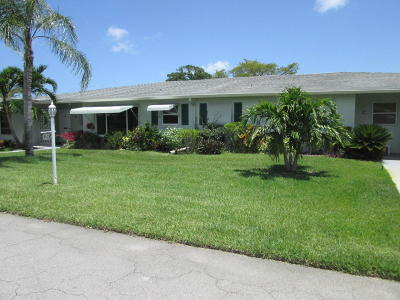 delray beach Single Family Home For Sale: 625 High Point Drive #D