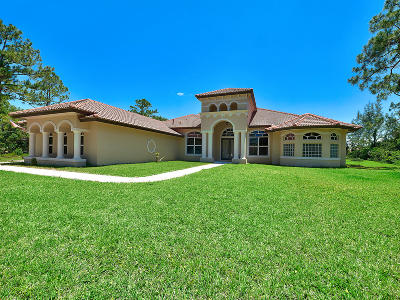 Loxahatchee Single Family Home Contingent: 6330 183rd Trail