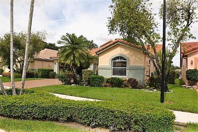 Boynton Beach Single Family Home For Sale: 9887 Harbour Lake Circle #9887