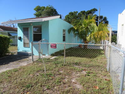 Lake Worth Single Family Home For Sale: 511 D Street