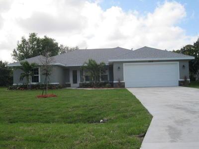 Port Saint Lucie Single Family Home For Sale: 6318 NW Dora Court