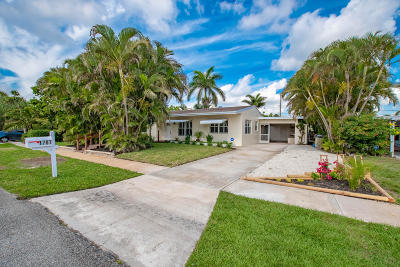 Lake Worth Single Family Home For Sale: 1707 Crest Drive
