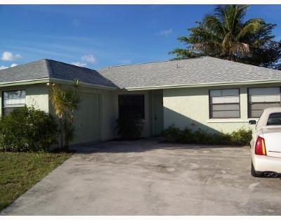 Greenacres FL Single Family Home For Sale: $325,000