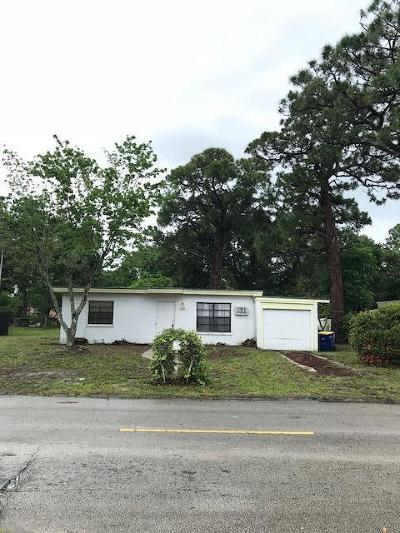 Fort Pierce Single Family Home For Sale: 1209 York Avenue