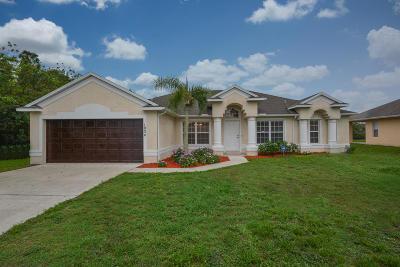 Port Saint Lucie Single Family Home For Sale: 1034 SW Jericho Avenue