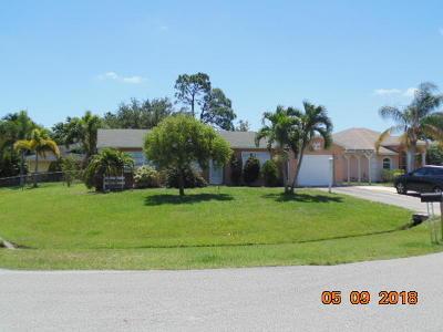 Port Saint Lucie Single Family Home For Sale: 1837 SE Camilo Street