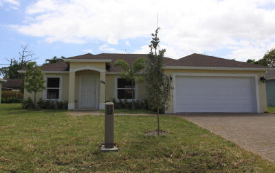 Lake Worth Single Family Home For Sale: 3386 Kirk Road