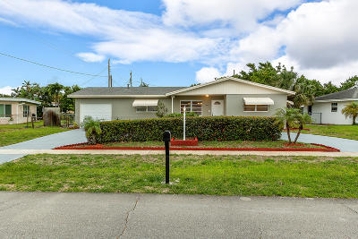 West Palm Beach Single Family Home For Sale: 2465 Palm Road