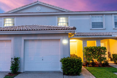 Jupiter Townhouse For Sale: 349 Timberwalk Trail #349