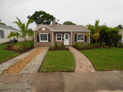 West Palm Beach Single Family Home For Sale: 721 Hampton Road