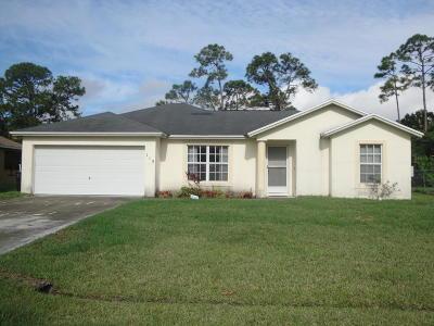 Port Saint Lucie Single Family Home For Sale: 113 SE Fallon Drive