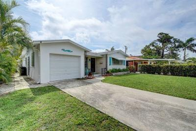 Lake Worth Single Family Home For Sale: 1618 S Palmway