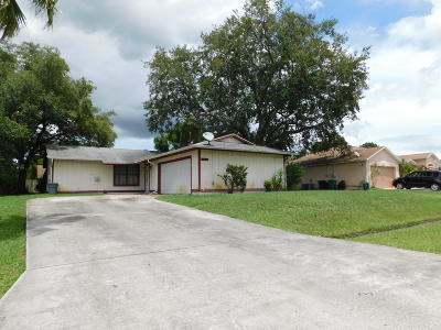 Port Saint Lucie FL Single Family Home Sold: $142,500