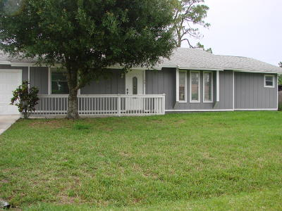 Port Saint Lucie Single Family Home For Sale: 1291 SE Navajo Lane