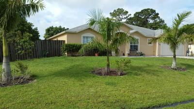 Port Saint Lucie Single Family Home For Sale: 358 NW Concord Drive