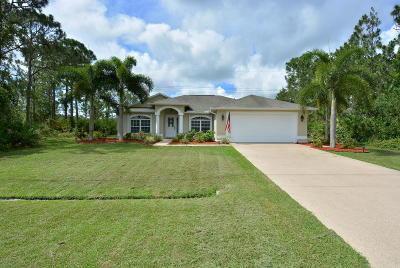 Port Saint Lucie Single Family Home For Sale: 5923 NW Hann Drive