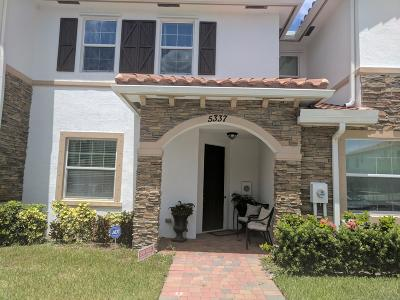 West Palm Beach Townhouse For Sale: 5337 Ashley River Road