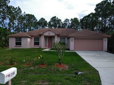 Port Saint Lucie Single Family Home For Sale: 2386 SW Ranch Avenue