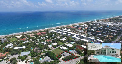 Ocean Ridge Single Family Home For Sale: 1 Beachway Drive