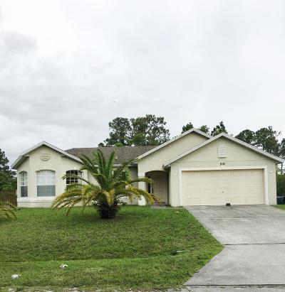 Port Saint Lucie Single Family Home For Sale: 918 SW Nichols Terrace
