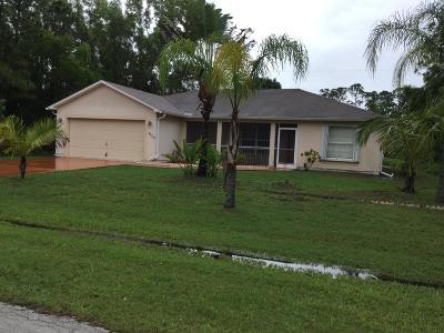 Port Saint Lucie Single Family Home For Sale: 632 SE Faith Terrace