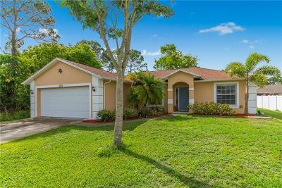 Port Saint Lucie Single Family Home For Sale: 280 SW Holden Terrace