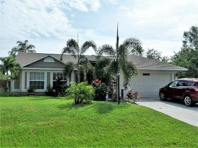 Port Saint Lucie Single Family Home For Sale: 1825 SW Salvatierra Boulevard
