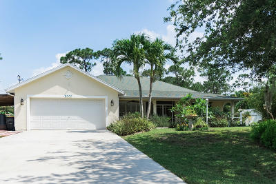 Hobe Sound Single Family Home For Sale: 6005 SE Circle Street