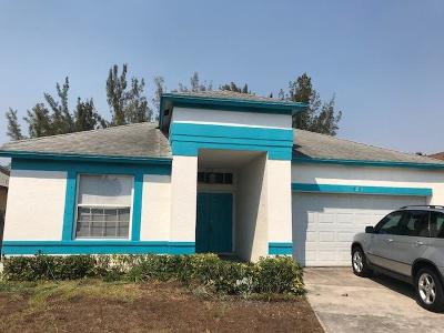 West Palm Beach Single Family Home For Sale: 5291 Fox Trace #1