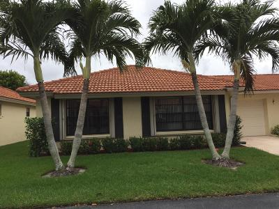 Boynton Beach Single Family Home For Sale: 4630 Wildwood Tree Lane #A