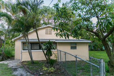 Lake Worth Single Family Home Contingent: 618 S Pine Street #B