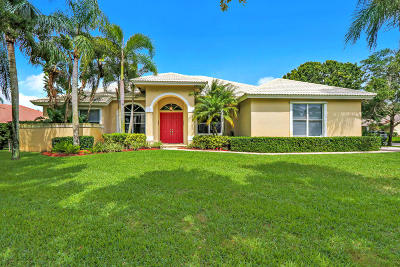 Jupiter Single Family Home For Sale: 18925 Still Lake Drive