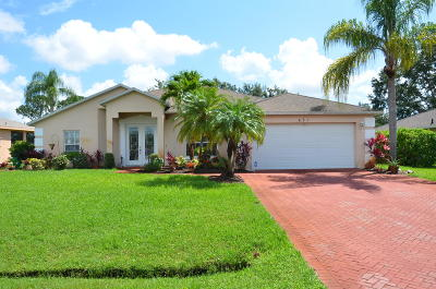 Port Saint Lucie Single Family Home Contingent: 631 SE Stow Terrace