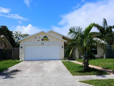Jupiter Single Family Home Contingent: 109 Chadwick Drive