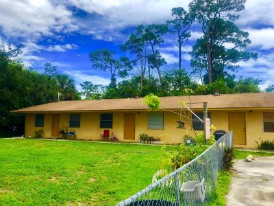West Palm Beach Multi Family Home For Sale: 4409 Miss Piney Road