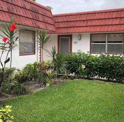 delray beach Single Family Home For Sale: 92 Waterford D