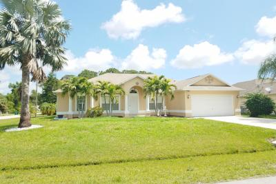Port Saint Lucie Single Family Home For Sale: 881 SE Walters Terrace