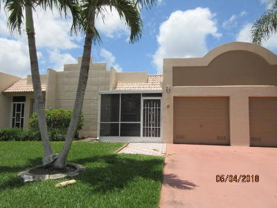 Boca Raton Single Family Home For Sale: 18801 Garbo Terrace #6